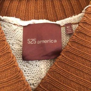 525 America Sweaters - 525 America sleeved poncho sweater
